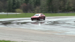 Competing race cars (7 of 8) Stock Video Footage