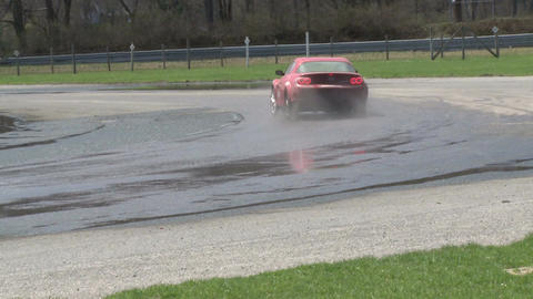 Competing race cars (1 of 8) Stock Video Footage