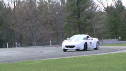 Competing race cars (5 of 8) Stock Video Footage