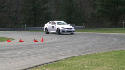 Racing cars speeding down a track (4 of 8) Stock Video Footage
