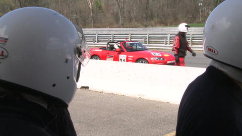 Racing cars speeding down a track (8 of 8) Stock Video Footage