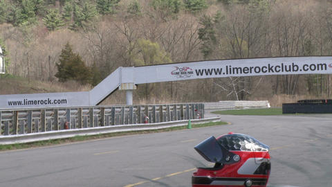 Race cars zooming around a track (6 of 8) Stock Video Footage