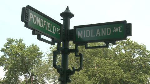 Corner street signs Stock Video Footage