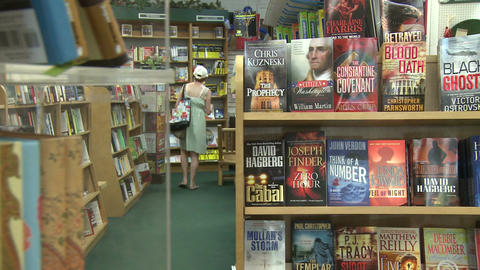 Inside a book store (4 of 4) Stock Video Footage