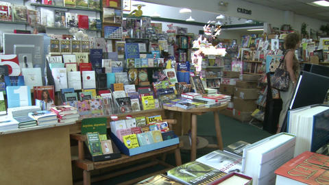 Inside a book store (3 of 4) Stock Video Footage