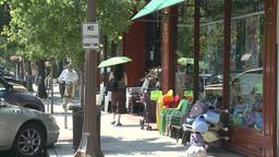 People walking down sidewalk (3 of 4) Stock Video Footage