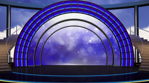 Entertainment TV Studio Set 22-Virtual Background Loop Footage