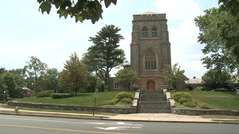 Old stone church (1 of 2) Stock Video Footage