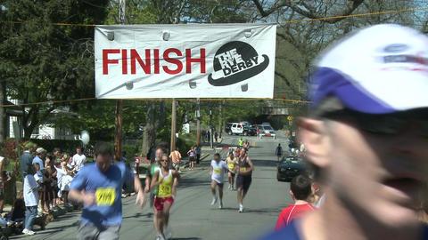 Marathon runners (1 of 10) Stock Video Footage