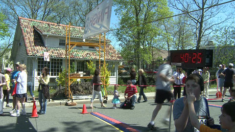 Marathon runners (10 of 10) Stock Video Footage