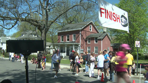 Crossing the finish line (1 of 3) Stock Video Footage