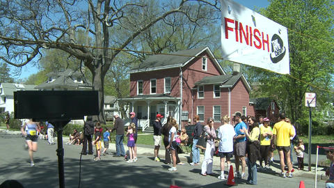 Crossing the finish line (1 of 3) Footage