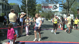 Marathon runners (2 of 10) Stock Video Footage