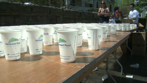 Marathon hydration (4 of 4) Stock Video Footage