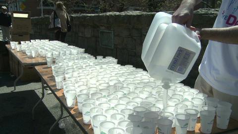 Marathon hydration (2 of 4) Stock Video Footage