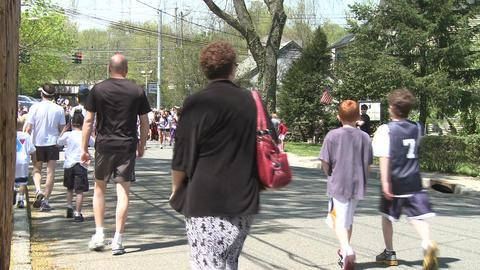 Large marathon crowd (12 of 12) Stock Video Footage
