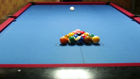 Pool game break Stock Video Footage