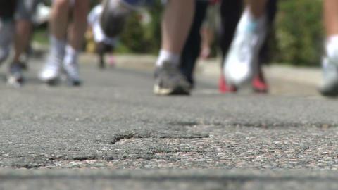 Marathon festivities (9 of 13) Stock Video Footage