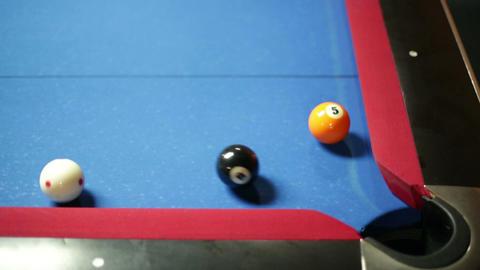 Pool Game Corner Shot Sink Black Close Up stock footage