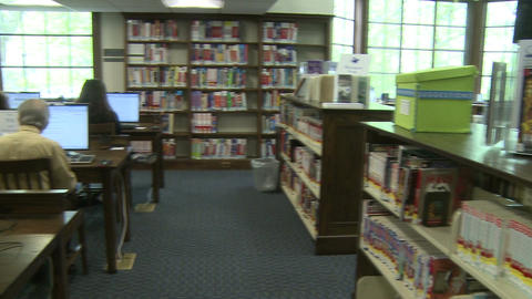 Local library (1 of 4) Stock Video Footage