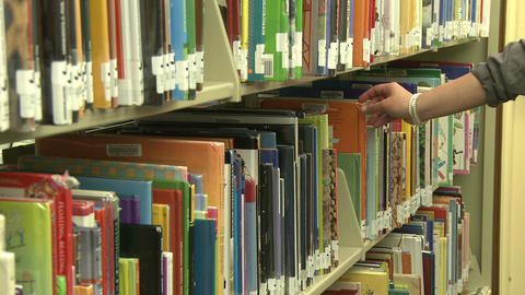 Local library (2 of 4) Stock Video Footage