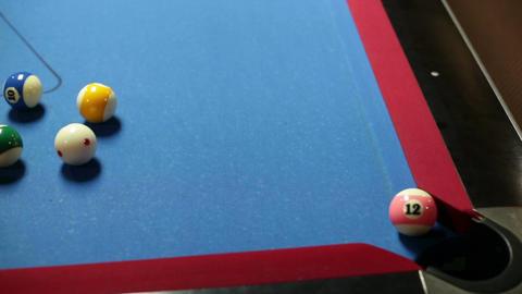 Pool game corner shot sink pink 12 Stock Video Footage