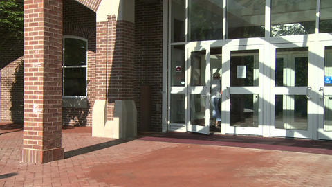 Shopping mall entrance (1 of 3) Stock Video Footage
