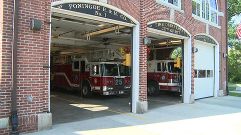 Town firehouse Stock Video Footage