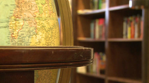 Close-up of globe (2 of 3) Stock Video Footage