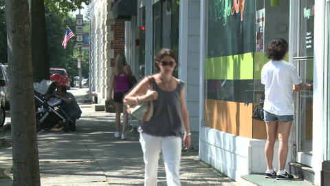 Views of a city street Footage