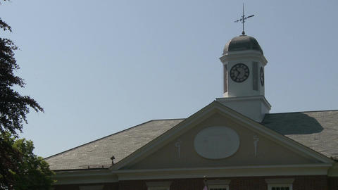 Building with large clock tower (2 of 3) Stock Video Footage