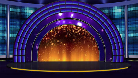 Entertainment TV Studio Set 23-Virtual Background Loop ライブ動画