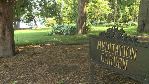 Beautiful meditation garden (3 of 7) Stock Video Footage