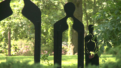 Beautiful meditation garden (7 of 7) Stock Video Footage