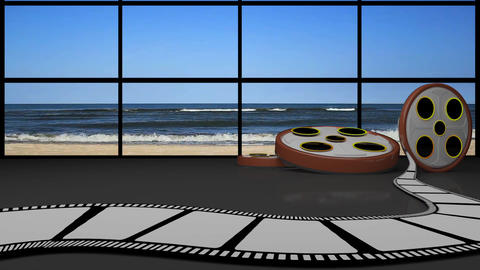 Entertainment TV Studio Set 24-Virtual Background Loop ライブ動画
