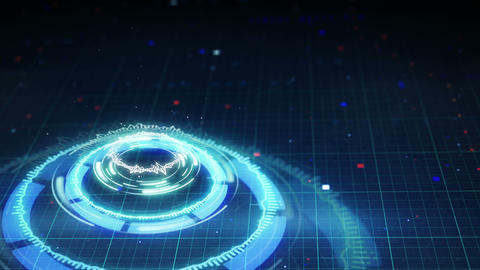 science fiction futuristic circle shape loopable 4k (4096x2304) Animation