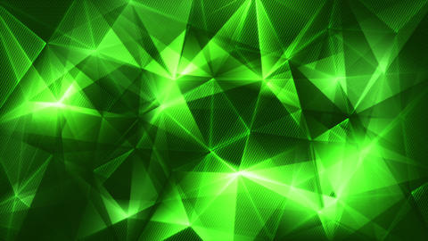 Dark Green Triangles Network Trendy Loop Backgrund 4k (4096x2304) stock footage