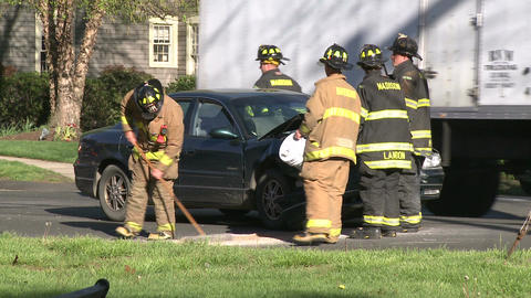 Emergency crews respond after an accident (7 of 8) Live Action
