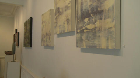 Inside upscale art gallery (3 of 7) Footage