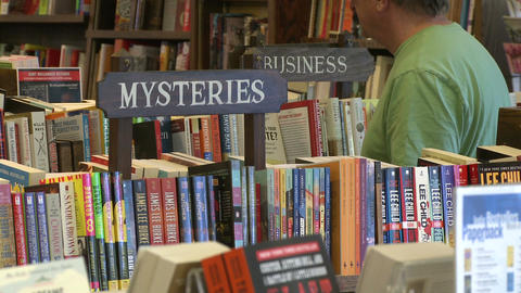 The Hickory Stick Bookshop Interior (5 Of 5) stock footage