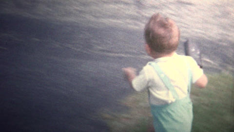 (8mm Vintage) 1966 Child Running Mad, Saved By Kid Sister Footage