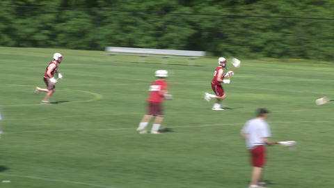 High School boys' lacrosse practice (4 of 9) Live Action