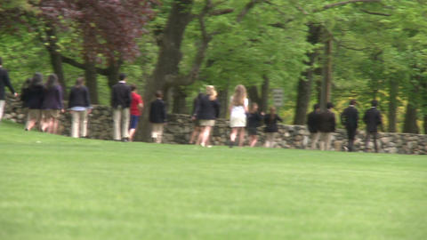 Private school students walking (1 of 2) Live Action