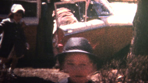 (8mm Vintage) 1966 Family Coming Home From Church Footage