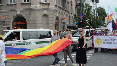 Baltic gay lesbian parade for equal rights solidarity Footage