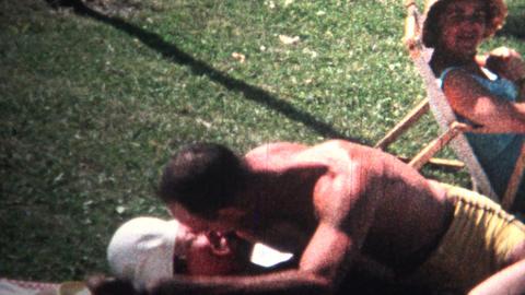 (8mm Vintage) 1966 Man Kisses Women, Prude Sister Embarrassed Footage