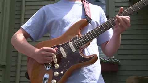 Guitarist playing with a band (1 of 6) Live Action
