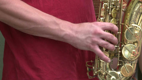 Saxophone player playing in a band (3 of 3) Footage