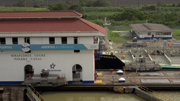 Cargo And Logistics Panama Canal Miraflores Locks 12 Footage