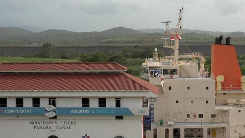 Cargo And Logistics Panama Canal Miraflores Locks 15 Footage
